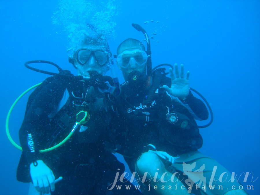Our diving class... | JessicaFawn.com