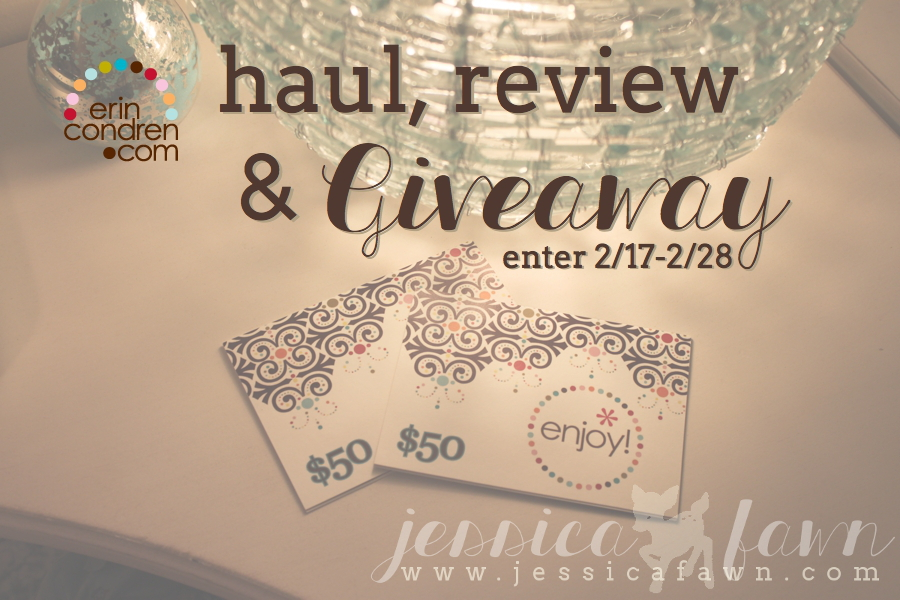 JessicaFawn.com - Erin Condren Haul, Review & Giveaway