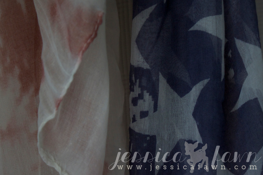 41Hawthorne Wren Vintage American Flag Scarf close-up | JessicaFawn.com