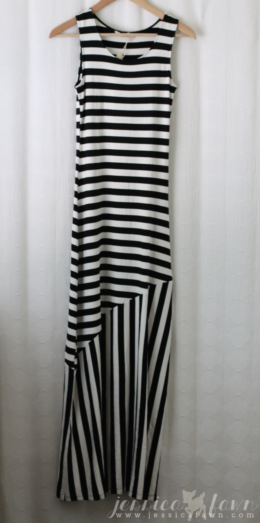 Mystree Candace Mix Stripe Sleveless Maxi Dress | JessicaFawn.com