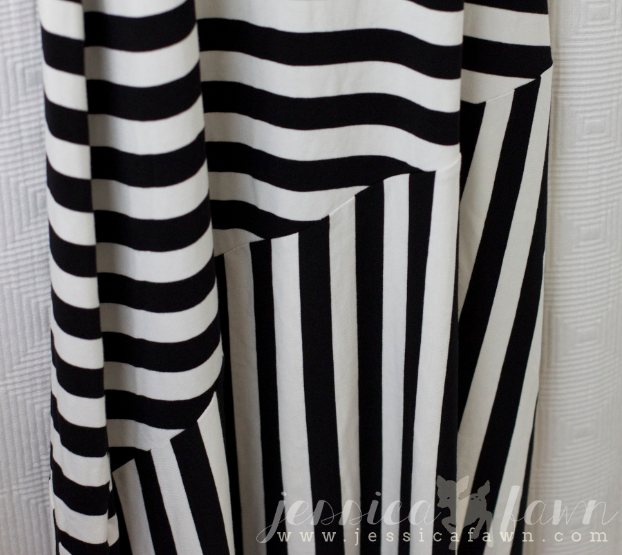 Mystree Candace Mix Stripe Sleveless Maxi Dress close-up | JessicaFawn.com