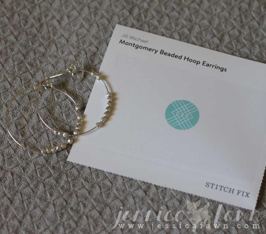 Jill Michael Montgomery Beaded Hoop Earrings card | JessicaFawn.com