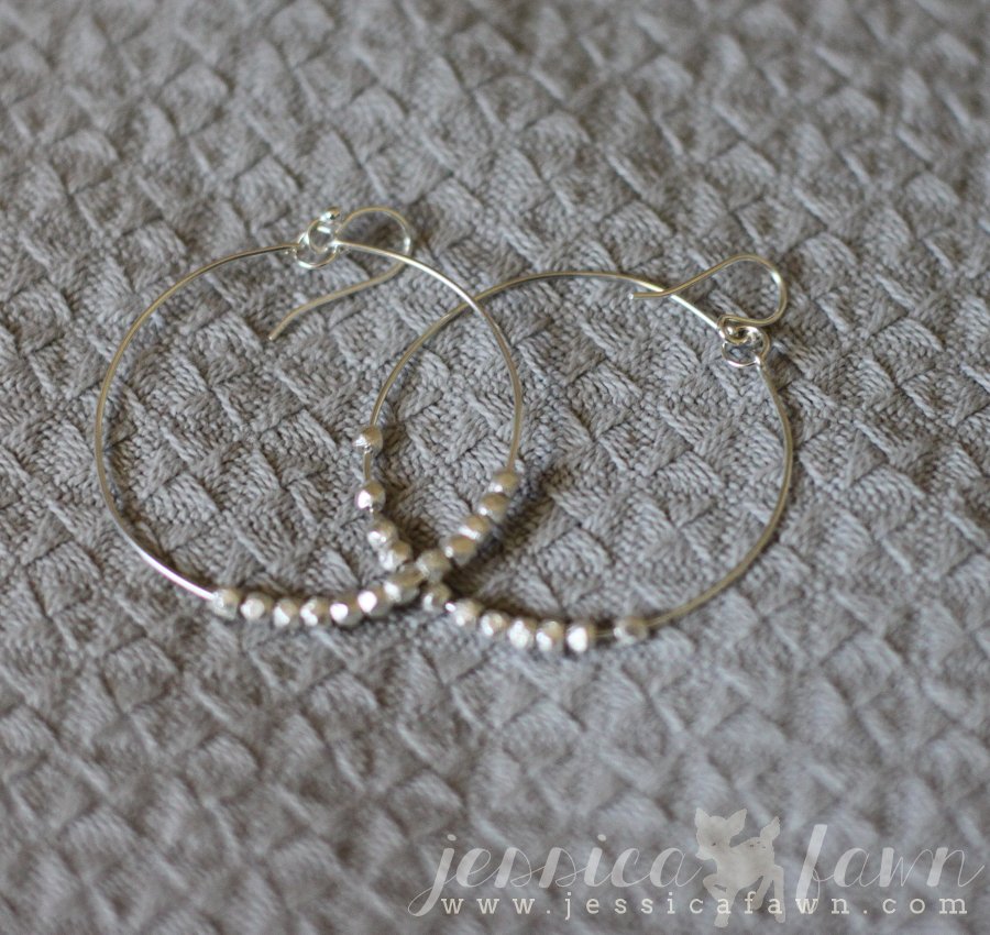 Jill Michael Montgomery Beaded Hoop Earrings | JessicaFawn.com