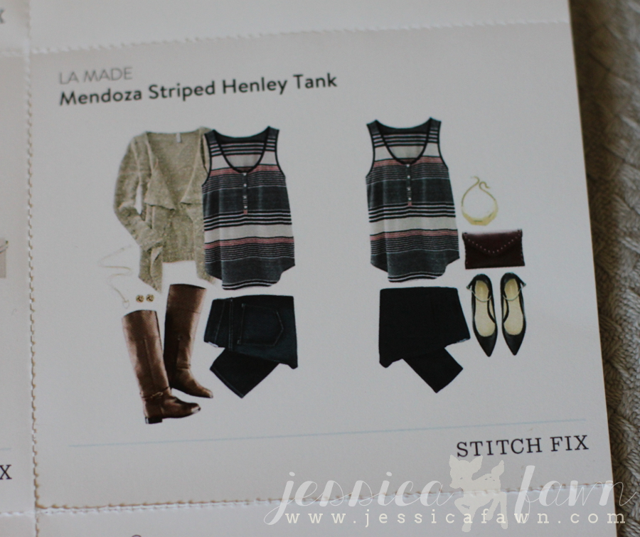 LA Made Mendoza Striped Henley Tank card | JessicaFawn.com