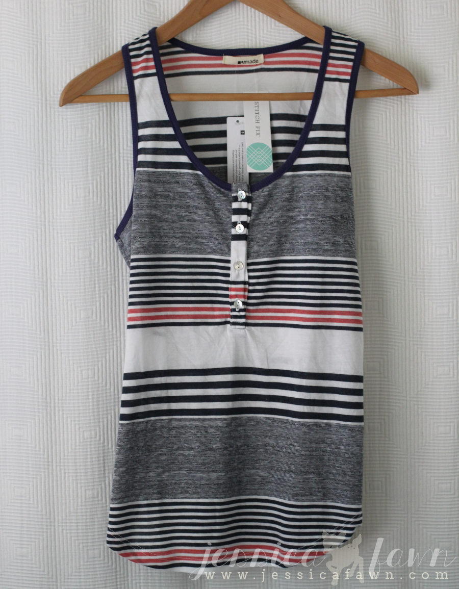 LA Made Mendoza Striped Henley Tank | JessicaFawn.com