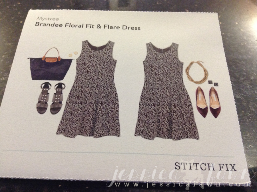 Mystree Brandee Floral Fit & Flare Dress card | JessicaFawn.com